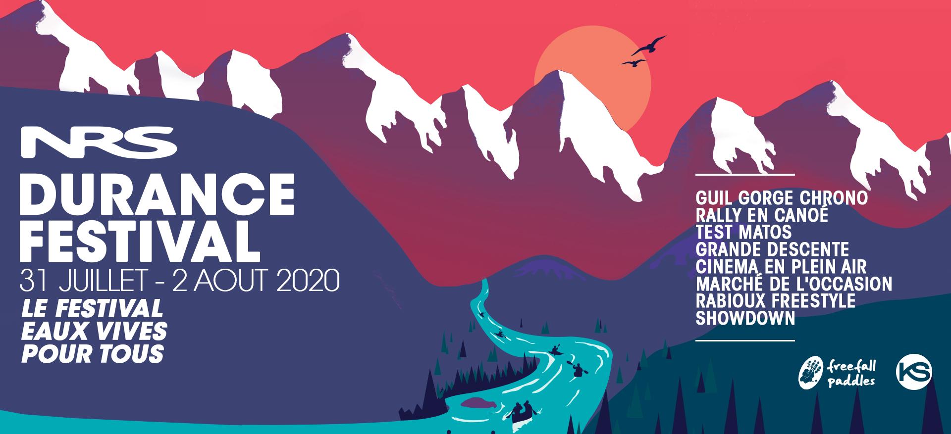 Le Durance Festival 2020, est un festival destiné aux sports d'eaux vives et de pagaies dont le but est de rassembler les amoureux de la culture rivière, kayak, canoé, raft.